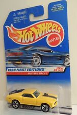 Hot Wheels MUSTANG MACH I ~yellow ~1998 First Editions Coll.# 670 ~MINT BEAUTY!