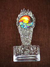 Decathlon torch trophy award clear acrylic full color insert