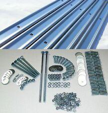 Bed Strips Kit Ford 1973 - 1979 Plain Steel Long Bed Stepside Wood Strip Bolts