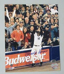 125007 Charlie Hayes Signed 8x10 Photo AUTO LEAF COA New York Yankees