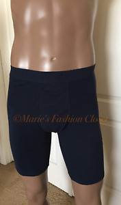 """Small - S -  (28""""- 32"""") Tommy John Cotton Spandex 7"""" Boxer Brief Navy"""