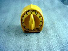 Vintage Robertshaw LUX - Dull Yellow colored  Rocket Minute Minder Kitchen Time