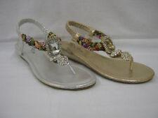 Sandali e scarpe casual infradito zeppa per il mare da donna