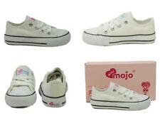 Chaussures blanches moyens à lacets pour fille de 2 à 16 ans
