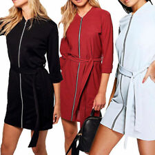 Polyester Machine Washable Shirt Dresses