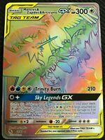 RAINBOW Moltres Zapdos Articuno GX SECRET RARE Hidden Fates 69/68 Tag Team Holo