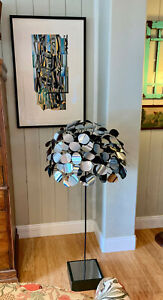 Curtis Jere 1970  Signed Chrome Rain Drops Tree Standing Sculpture