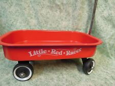 """jk-16  DOLL toy - """"LITTLE RED RACER""""  wagon with pull handle; 13"""" long"""