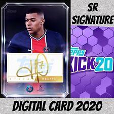 Topps Kick Digital 2020 Kylian Mbappe Signatures Gold S/2 PSG