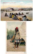 2 - APACHE INDIANS Native Americans - c1910 POSTCARDS