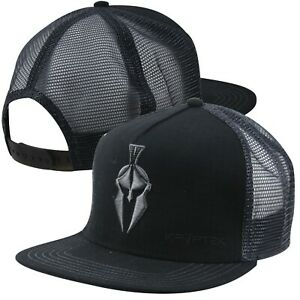 Kryptek Spartan Urban Mesh Back Cap- Black/Grey