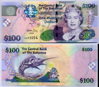 BAHAMAS 100 DOLLARS 2009 P 76 NEW F PREFIX UNC