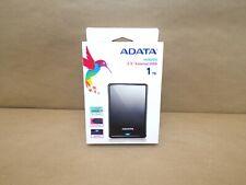 ADATA HV620S Ultra Slim 1 TB USB 3.1 Scratch-Resistant External Hard Drive Black