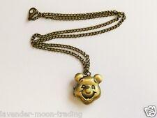 """Bronce Antiguo Winnie Pooh Medallón Colgante/Collar 18"""" Cadena"""