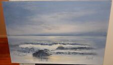 ANDREW LARGE OIL ON CANVAS SEASCAPE PAINTING