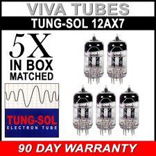 New Gain Matched Quintet (5) Tung-Sol Reissue 12AX7 ECC83 Tubes - Auth. Dealer