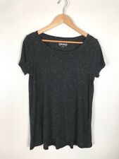 Mudd Marled Black And White Tee Shirt, Size L