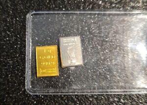 Valcambi Combibar™ - ☆ 1 G Goldbarren + 1 x 1 G Silberbarren ☆ Geschenk Set 1