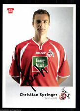 Christian Springer 1. FC Köln 2004-05  Original Signiert + A 63700