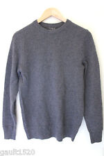 NEW! Marconi 100% Cashmere Men's Gray Textured Knit Crew Neck Sweater S $295