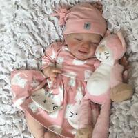 "20"" Full Body Vinyl Silicone Reborn Dolls Lifelike Baby Girl Newborn Doll Gifts"