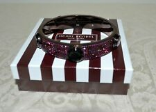 Henri Bendel Rocks Carlyle Logo Hinge Bracelet Burgundy