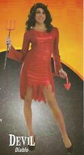 NEW Women's Red DEVIL Rubie's Halloween Sensations Costume Size M 8-10