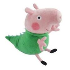 "TY BEANIE PEPPA PIG GEORGE IN DINOSAUR COSTUME 7"" (18CM) Plush Soft TALL"