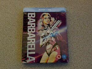 BARBARELLA BLU RAY+ DVD STEELBOOK NEW & SEALED GENUINE UK