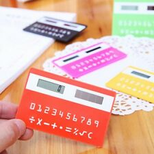 Cool! Mini portable calculator very thin-Solar Battery! Fashion & Free Shipping!