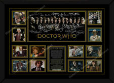 More details for framed a4 doctor who signed autographed photo print memorabilia all 14 doctors