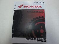 2013 2014 2015 2016 2017 2018 HONDA CBR500R/RA CB500F/FA CB500/XA Service Manual