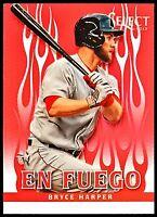 2013 Select Bryce Harper En Fuego Prizm Parallel SP Nationals Phillies #1