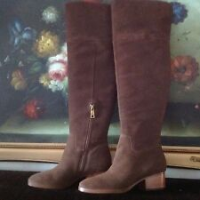 NEW LAUREN RALPH LAUREN WOMEN Dallyce Suede Boot Brown OVER THE KNEE SIZE 7B