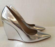 Nicholas Kirkwood Lizy Silver Wedges Size 36  £495