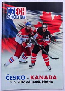 2016 CZECH Republic v. CANADA ice hockey PROGRAM in Prague
