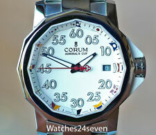 CORUM ADMIRALS CUP COMPETITION 40 WHITE NAUTICAL FLAG DIAL, Retail $6,650