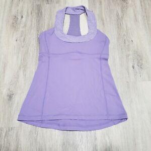 Lululemon Size 6 Scoop Neck Tank Purple Lilac Athletic Top