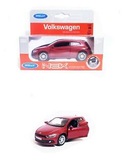 WELLY 1/34 1/39 VW SCIROCCO ROUGE VOITURE