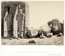 c.1857  PHOTO EGYPT FRITH - OSIRIDE PILLARS AND GREAT FALLEN COLOSSUS