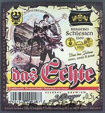 Poland Brewery Lwówek Das Echte Beer Label Bieretikett Cerveza ls136.1
