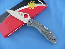 Spyderco C11FPGY Delica 4 Knife Gray FRN Flat Ground VG-10 2010 Production  #156