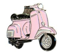 New Light Pink Girls Scooter Female MOD Metal Scooterist Bike Enamel Badge