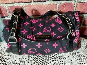 Metal Mulisha Women's handbag Carry Bag Purse Black Pink Skulls
