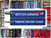 Keyring British Airways BA Remove Before Flight keychain for pilot BLUE TAG