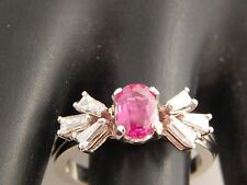 18k WG High End Diamond  AAA+ Pigeon Blood Red Ruby Designer Ring 1.29 tcw D/VS