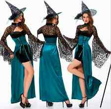 Popular Womens Sexy Halloween Cosplay Costume Fancy Dress Prop Outfit Hat Witch