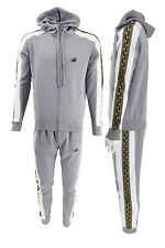 Mens Embroidered TIM Panel Zip Through Hoodie & Jogger Matching Tracksuit Sets