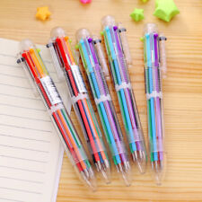 6 in 1 Color Smooth Ballpoint Pen Ball Point Pens For School Office Supply pen