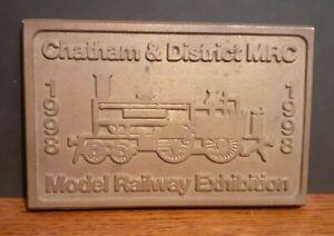 1998 Metal Model Railway Club Exhibition Plaque - Chatham & District Kent UK